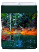 Pond In The Woods Duvet Cover