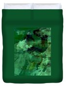 Pond Life Abstract Duvet Cover