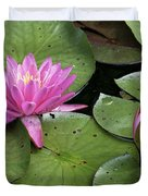 Pond Lily And Bud Duvet Cover