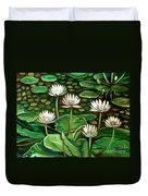 Pond Of Petals Duvet Cover