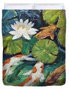 Pond Swimmers Koi Duvet Cover