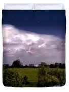 Pondsky At Night Duvet Cover
