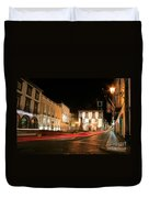 Ponta Delgada At Night Duvet Cover