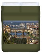 Ponte Vecchio - Florence Duvet Cover by Joana Kruse