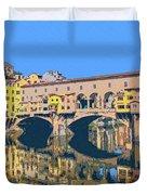 Ponte Vecchio Florence Duvet Cover