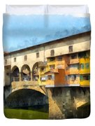 Ponte Vecchio Florence Italy Duvet Cover
