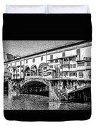 Ponte Vecchio Florence Sketch Duvet Cover