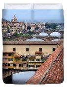 Ponte Vecchio From Uffizi                Duvet Cover