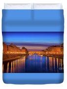 Ponte Vecchio Nigth Panorama Duvet Cover