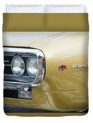 Pontiac Firebird Gold 1967 Duvet Cover
