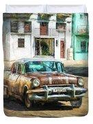Pontiac Havana Duvet Cover by Lou Novick