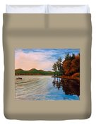 Pontoosuc Lake Pittsfield Ma Duvet Cover