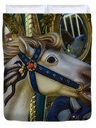Pony Carrsouel Portrait Duvet Cover
