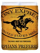 Pony Express Wanted Poster Duvet Cover