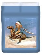 Pony War Dance Duvet Cover by Frederic Remington