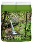 Ponytail Falls, Oregon Duvet Cover