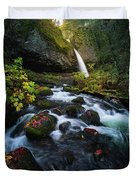Ponytail Falls With Autumn Foliage Duvet Cover
