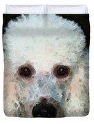 Poodle Art - Noodles Duvet Cover by Sharon Cummings