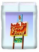 Poodle Dog Diner Duvet Cover