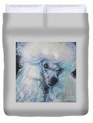 Poodle White Standard Duvet Cover