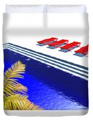 Pool Deck Duvet Cover