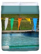 Pool Side  Duvet Cover