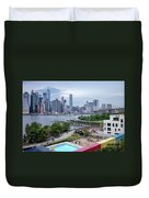 Pool With A View, Brooklyn, New York #130706 Duvet Cover