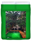 Pool With Tree Duvet Cover
