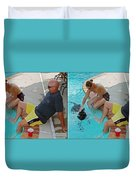 Poolside - Gently Cross Your Eyes And Focus On The Middle Image Duvet Cover