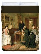 Poor Relations Duvet Cover by George Goodwin Kilburne
