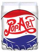 Pop Art Bottle Cap Duvet Cover