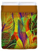 Pop Art Cannas Duvet Cover by Deleas Kilgore