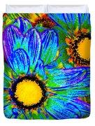 Pop Art Daisies 4 Duvet Cover