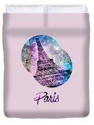 Pop Art Eiffel Tower Graphic Style Duvet Cover