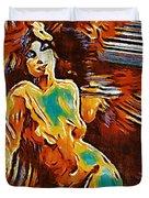 Pop Art Female Study 1d Duvet Cover