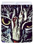 Face Of The Feline Duvet Cover