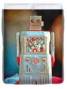 Pop Art Robot R-1 Duvet Cover
