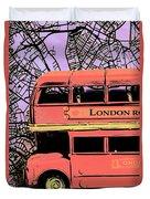 Pop Art Uk Duvet Cover