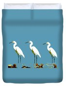 Pop Egrets Duvet Cover