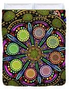 Pop Mandala Golden Duvet Cover