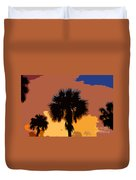 Pop Palms Duvet Cover