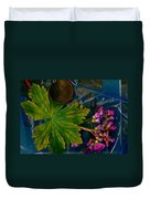 Popart With Fantasy Flowers Duvet Cover