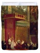 Pope Pius Vii Luigi Barnaba Chiaramonti Attending Chapel 1820 Duvet Cover