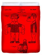 Popeye Doll Patent 1932 In Red Duvet Cover