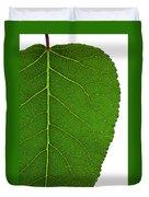 Poplar Leaf A Key To Biofuels Duvet Cover
