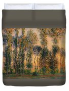 Poplars At Giverny - Sunrise Duvet Cover