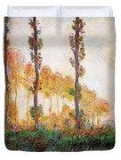 Poplars, Autumn Duvet Cover