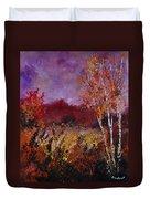 Poplars In Autumn  Duvet Cover