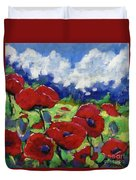 Poppies 003 Duvet Cover