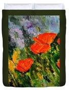 Poppies 107 Duvet Cover